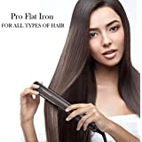 "Hair Straightener Pro Flat Iron 1"" Titanium Ion Plates Hair Straightening With Heat Indicating Light For All Hair..."
