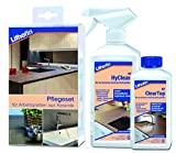 Lithofin Pflegeset für Arbeitsplatten aus Keramik 750 ml - PROFESSIONELLE Reinigung von Keramik - LANGZEITWIRKUNG