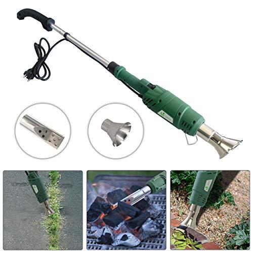 Désherbeur électrique 2000 W | Brûleur électrique de mauvaises herbes | Enlève les mauvaises herbes en quelques secondes | Allume barbecue | Sans flammes ni produits chimiques Brûleur 2 en 1