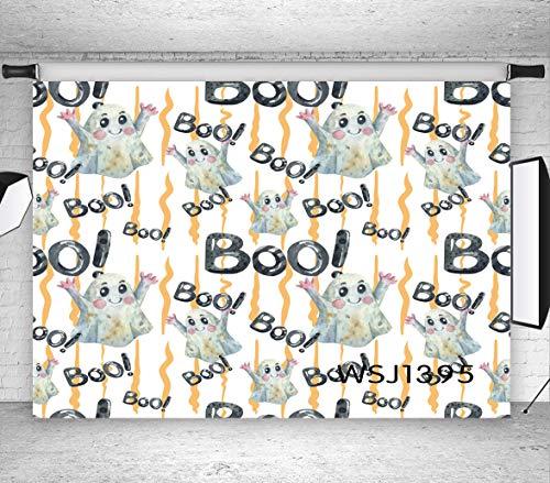 Halloween Party Hintergrund, Niedlichen Geister Baby Boo 3,0x3,0m Fotografie Hintergrund für Foto Hintergründe Dekorationen Studio-Kabine Requisiten WSJ1395