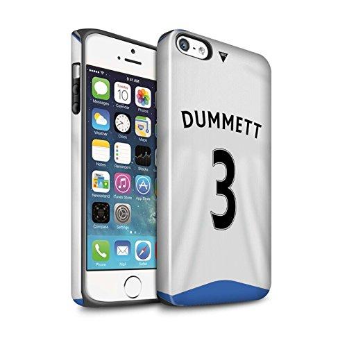 Offiziell Newcastle United FC Hülle / Glanz Harten Stoßfest Case für Apple iPhone 5/5S / Shelvey Muster / NUFC Trikot Home 15/16 Kollektion Dummett