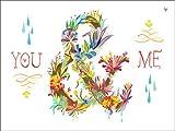 Telecharger Livres Wheatpaste Art Collective sur toile murale Motif You and Me Floral par Katie Daisy 24 par 45 7 cm (PDF,EPUB,MOBI) gratuits en Francaise