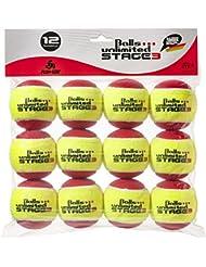 Balls ... unlimited Stage 3 (rot) Kinderbälle, Trainingsbälle 75% Druckreduziert, Methodikbälle - 12er Pack