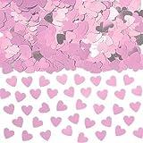 Amscan Konfetti funkelnde Herzen 14 g flieder/rosa