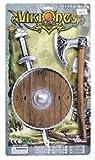 Viking Serie Season altsächsisches Schwert Axt und Schild Spielzeug-Set Warrior Rolle spielen Gr. Einheitsgröße, Braun - Braun