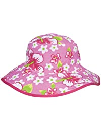 Banz Reversible UV Bucket Sun Hat - Pink Floral 0-2y