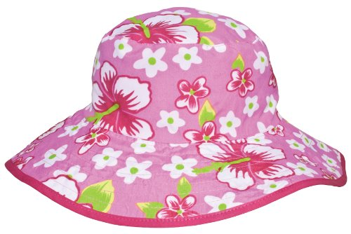 Banz Reversible UV Bucket Sun Hat - Pink Floral 0-2y (Blumen-reversible Hut)