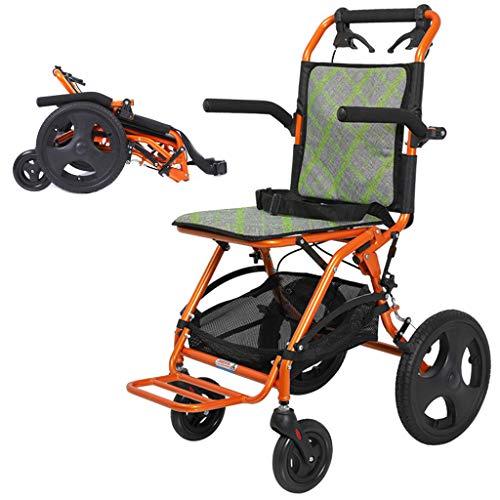 wheelchair Leichte Rollstühle mit Handbremse, Hochleistungs-Reiserollstuhl, Transportrollstuhl für Erwachsene - zusammenklappbarer Außenrollstuhl - 100 kg Tragkraft