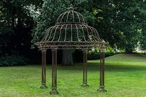 CLP Garten Pavillon Palais l Runder Rankpavillon Ø 370 cm, Höhe 440 cm l Stabiles Eisen (Metall)...