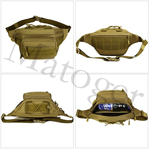 matoger Tactical Military Fanny packwaist Pack Bag Wasserdichte Gürteltasche braun