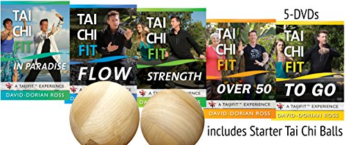 Bundle: Complete Tai Chi Fit 5-DVD Set with Tai Chi Balls by David-Dorian Ross (YMAA fitness) **Bestselling DVD Tai Chi Series** Flow, Strength, To Go, Over 50, Paradise -