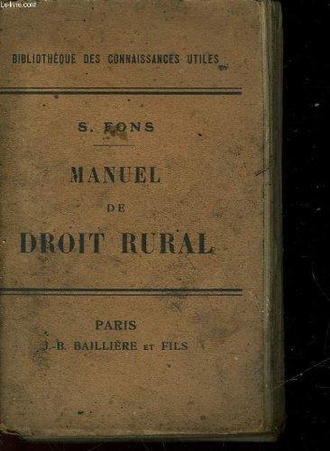 Manuel de droit rural