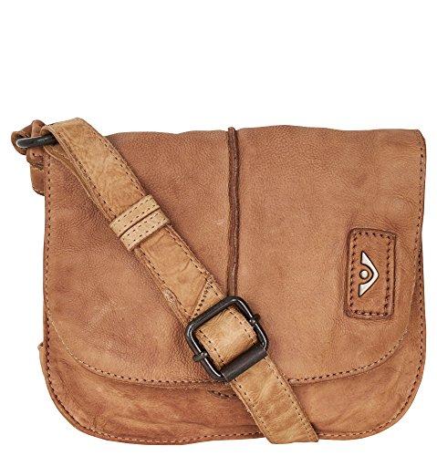 VOi Damen Überschlagtasche 21112 in Tabak Braun aus Leder