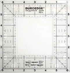 6.5 X 6.5 Inch Square Non Slip Ruler - Duroedge