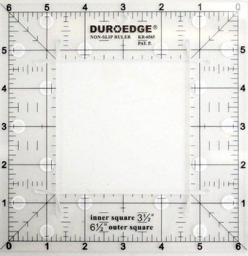 Duroedge Viereckiges Lineal, rutschfest, 16,5x16,5cm