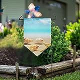 LENNEL Garten Flagge doppelseitig 28 x 40 Zoll für Rasen Party Hochzeit Bauernhof Home Decor Sommer Strand blaues Meer