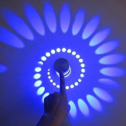 Luce BellKen parete del LED 2pcs 3W artistico moderna del riparo della parete con Scattering luci Whirlpool Ombra stretching
