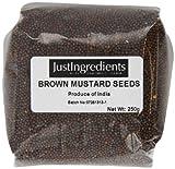 JustIngredients Essential Semillas de Mostaza Negra/Marrón - 2 Paquetes de 250 gr - Total: 500 gr