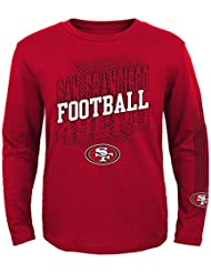 """San Francisco 49ers Youth Jeunes NFL """"Frequency"""" Long Sleeve T-Shirt Chemise"""