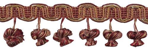 Burgund taupe 5,1cm Barock Zwiebel Quaste Fransen, Stil # tfb2Farbe: Cranberry Harvest-8612, verkauft von der Yard -