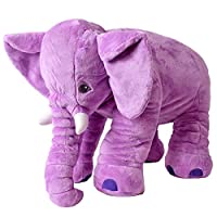 teprovo XXL Elephant Cuddly Animal Toy Fall Asleep Baby Pillow Infant Plush Elephant Stuffed Fabric 68 cm Large Purple Violet Sgs Tested