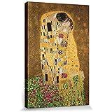 Gustav Klimt - El Beso II Cuadro, Lienzo Montado Sobre Bastidor (120 x 80cm)