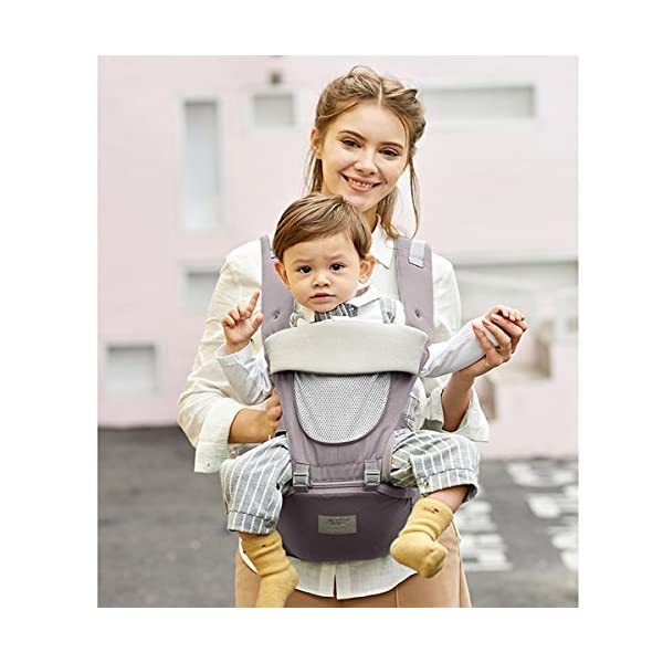 SONARIN 3 in 1 All Season Breathable Hipseat Baby Carrier,Sun Protection,Ergonomic,Multifunction,Easy Mom,Adapted to Your Child's Growing, 100% Guarantee and Free DELIVERY,Ideal Gift(Gray) SONARIN Applicable age and Weight:0-36 months of baby, the maximum load: 30KG, and adjustable the waist size can be up to 45.3 inches (about 115 cm). Material:designers carefully selected soft and delicate Cotton cloth. Resistant to wash, do not fade, ensure the comfort and wear resistance, Inner pad: EPP Foam,high strength,safe and no deformation,to the baby comfortable and safe experience. Description: patented design of the auxiliary spine micro-C structure and leg opening design, natural M-type sitting.Side double storage bag, store mobile phones, wipes and other necessities. H-type bridge belt, effectively fixed shoulder strap position, to prevent shoulder straps fall, large buckle, intimate design, make your baby more secure. 3