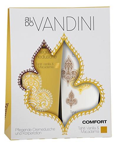 Aldo Vandini aldoVANDINI COMFORT Duo Set Tahiti Vanilla & Macadamia - vegan & parabenfrei, 1er Pack (1 x 1 Stück)