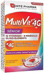 Multivit' 4G Sénior | Complément Alimentaire Forme et Tonus 12 Vitamines et 7 Minéraux - Renforcé en Ginse