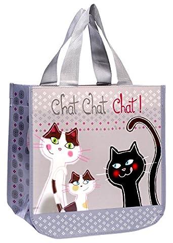 Fox Trot 9331NCHA Petit Sac Cabas Plastique Chat 30 x 18 x 30 cm