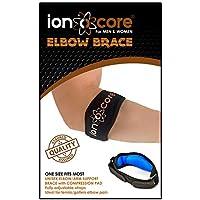 Preisvergleich für ionocore Ellenbogenbandage für Golf/Tennis, leicht, verstellbar, mit EVA-Kompressionspolster, Einheitsgröße (1)