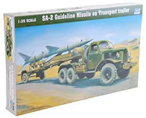 Trumpeter 1/35 SA-2 Guideline Missile on Transport trailer by Trumpeter