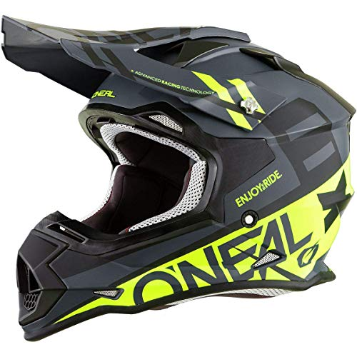 O\'Neal 2Series RL Spyde Motocross MX Helm Enduro Trail Quad Cross Offroad, 0200, Farbe Schwarz, Größe M