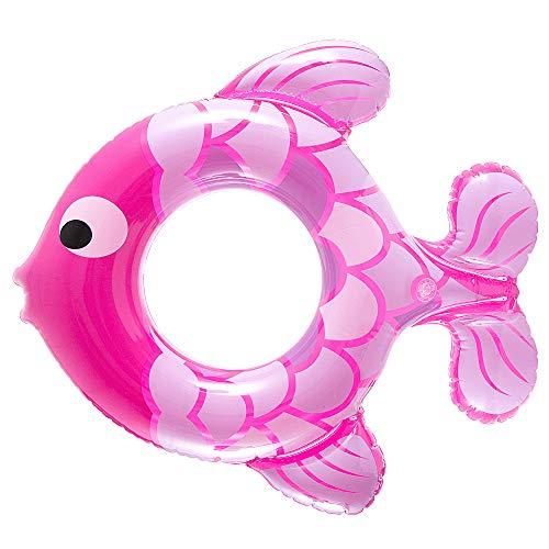 MOOKLIN ROAM Kinder Aufblasbarer Schwimmring, Schwimmtier Schwimmsitz mit Fisch-Motiven Schwimmreifen für Kleinkinder, Kinder ab 1 bis 5 Jahre, Ø 50cm, Zufällige Farbe