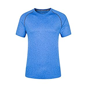 51LsOuVyh7L. SS300  - Mountain Warehouse IsoCool Agra Mens Striped Tee - UPF30+ UV Protection Winter T-Shirt, Lightweight Tshirt, Quick Dry, Breathable Top - for Travelling, Hiking & Daily