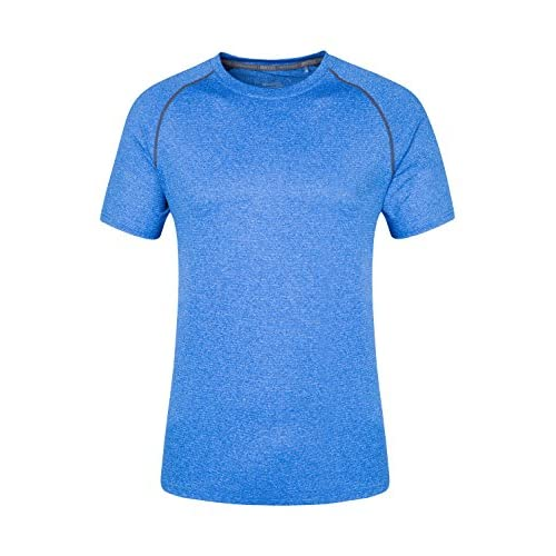 51LsOuVyh7L. SS500  - Mountain Warehouse IsoCool Agra Mens Striped Tee - UPF30+ UV Protection Spring T-Shirt, Lightweight Tshirt, Quick Dry, Breathable Top - for Travelling, Hiking & Daily