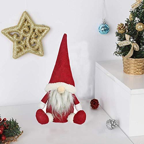 Sinwind Gnomo di Natale Decorazioni Natalizie, Regali di Natale Particolari, Fatto a Mano, Babbo Natale, Decorazione per la casa Desktop Ornamento (Rosso)