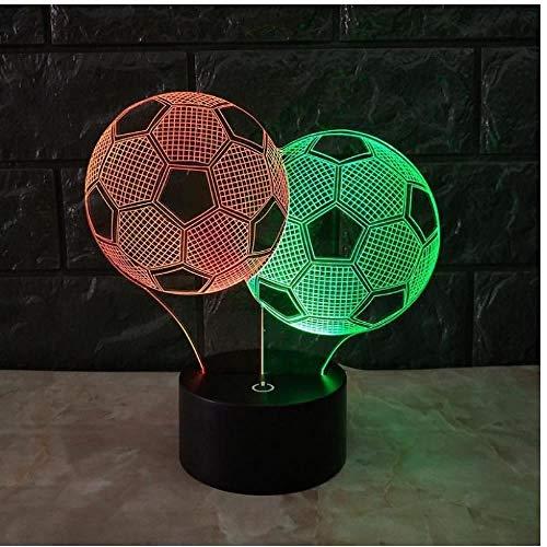 CSXM Tischleuchte Fußball 3D-Nachtlichter Vision Touch Charging Stereo Kids Lights Neuentwicklungsstil 3D-Leuchten -