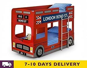 Julian Bowen London Bus 3ft Single Bunk Bed