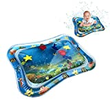 DokFin Tummy Time Inflatable Water Play Mat for Babies Infants and Toddlers (Blue)