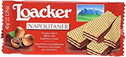Loacker Napolitaner Hazelnut Cream Filled Wafer 45g (Pack Of 25)