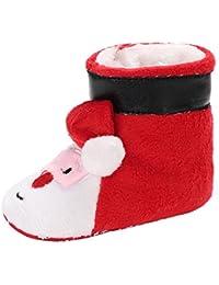 ad7f3cfb17b67 Chaussures de bébé, Binggong Infant Père Noël Doux Sole Prewalker Chaussures  Premiers Pas BéBé Fille