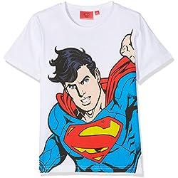 DC Comics Superman Camiseta para Niños, Blanco 6 Años