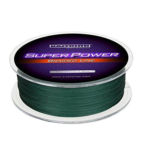KastKing SuperPower Angelschnur Geflochtene Schnur 4-8 fach 100% PE Dynamix geflochtene, 10LB - 150LB – Abrasion Resistant – Zero Stretch