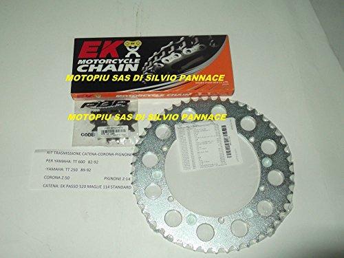 Kit transmission catena-corona-pignone pour Yamaha TT 600 59 x 82 - 92 TT 250 z50,14