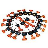 AILHL 50 pz per Pavimenti, Piastrelle di livellamento Sistema livella plastica Clip Regolabile localizzatore distanziatori Pinza Cunei Level Hand Tools