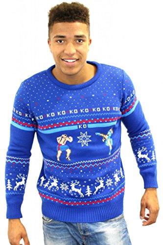 Street Fighter Sagat vs Chun Li Official Christmas Jumper / Sweater (X