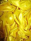 50 Luftballons Metallic Ø 28 cm Farbe frei wählbar Ballons Helium Luftballon (Gelb)