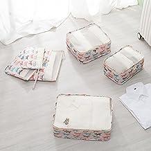 l. Atsain viaggio organizer portaoggetti da cosmetici, articoli da toeletta merci abiti imballaggio cubi 3pcs + tasche 3pcs Fox