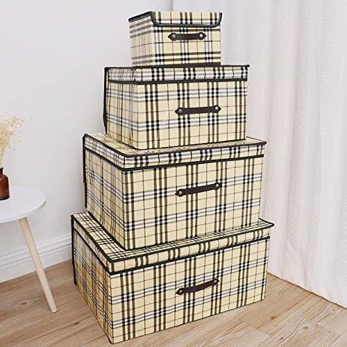 XZHH Aufbewahrungsbox Kleidung Aufbewahrungsbox beschichtet Vlies wasserdichte Unterwäsche Aufbewahrungbox Finishing Box Big Mac (60 x 50 x 40) cm Schottisches Plaid (Mac Unterwäsche)